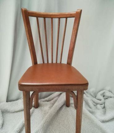chaise bauman bistrot skai marron chocolat