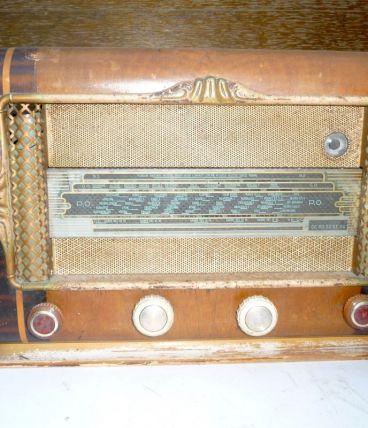POSTE RADIO 40s /50s à lampes - DÉCO-placage bois -