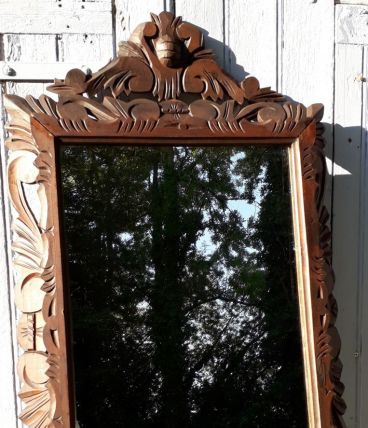 Miroir en bois 96 x59 cm