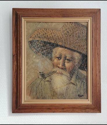 """Portrait """"Vieillard à la pipe"""""""