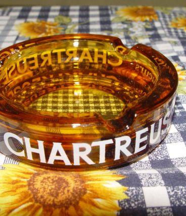 """Cendrier vintage """"liqueur Chartreuse"""""""