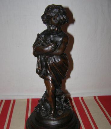 Art Déco: ancienne sculpture en régule, hauteur 34cm