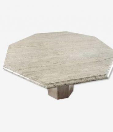 Table travertin