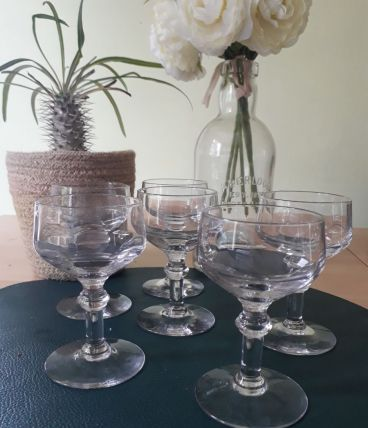 6 verres anciens à digestif