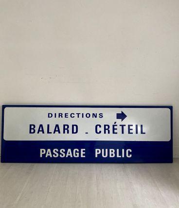 """Plaque de métro parisien """"Passage Public"""""""
