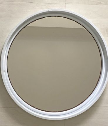 Ancien miroir gilac vintage 70 prisunic plexi blanc original