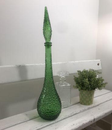 Grande bouteille carafe italienne Empoli verte