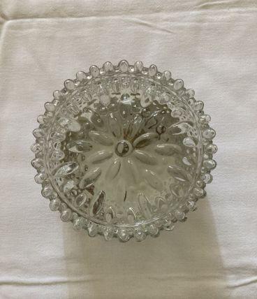 Plafonnier en verre circa 60s