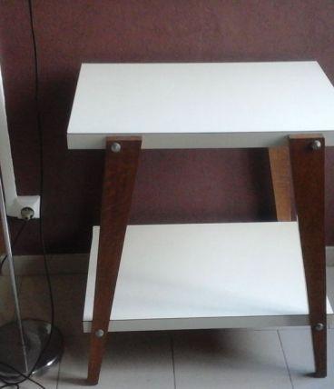 Table formica deux plateau pieds compas 60's vintage