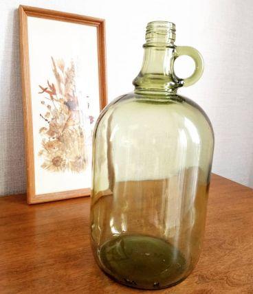 Bonbonne, bouteille vintage verte. 2 L