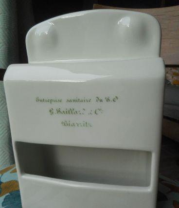 distributeur vertical de papier toilette porcelaine