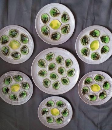 Service à huîtres vintage