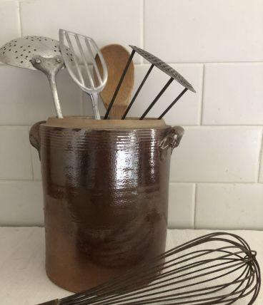 Pot en grès vernissé, cuisine campagne