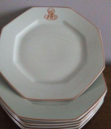 6 assiettes à dessert  Porcelaine de Limoges