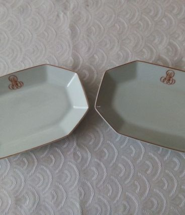Paire de raviers Porcelaine de Limoges
