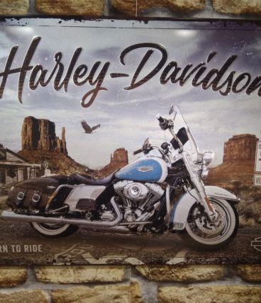 PLAQUE DECO EN RELIEF HARLEY DAVIDSON
