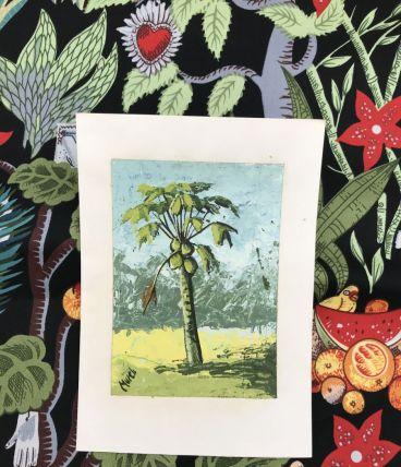 Tableau Huile Papier marouflé  10.5x15cm