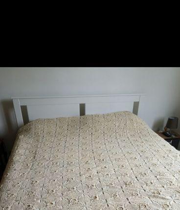 Couvre-lit ancien au crochet