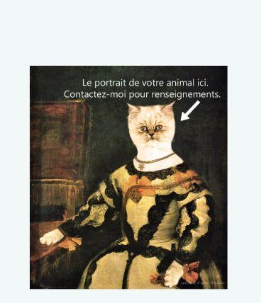 Photographie personnalisée de votre animal. Vélazquez
