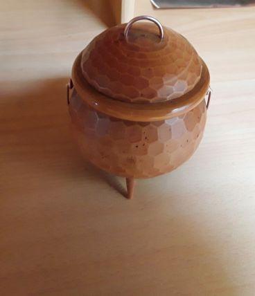 Bonbonniere en bois vintage