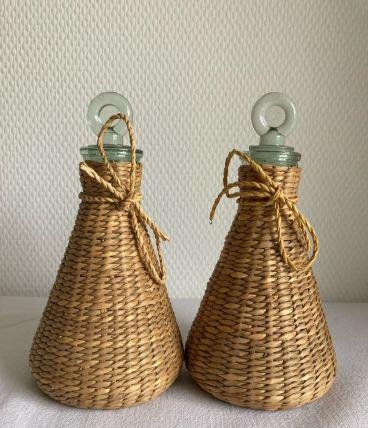 2 flacons huilier-vinaigrier