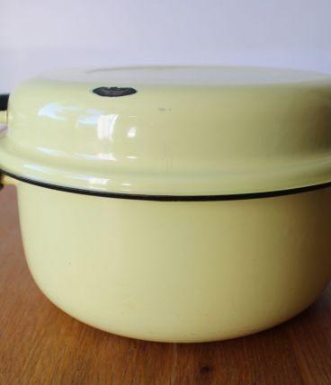 Faitout, friteuse émaillé années 50/60