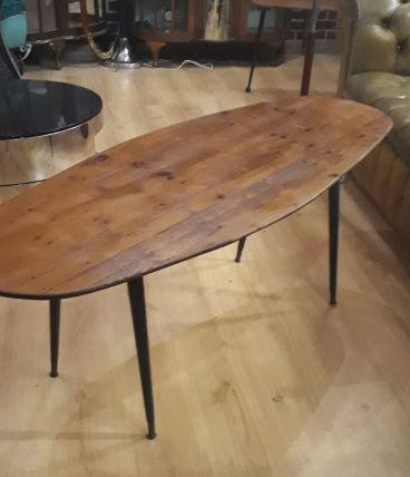 table ovale scandinave 137x49x53