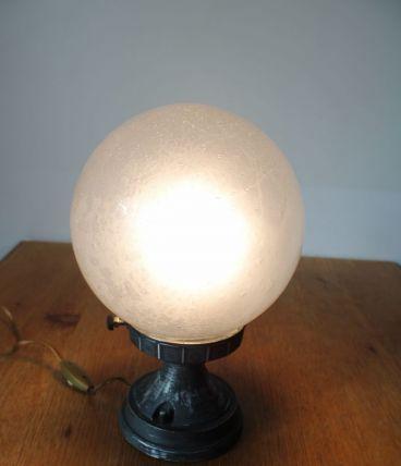 Lampe boule italienne années 70