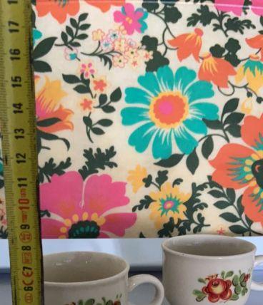 2 tasses vintage fleurs