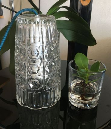 Vase verre moulé italien 70''
