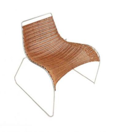 "Rib Chair"", prototype. Fauteuil en acier inoxydable"