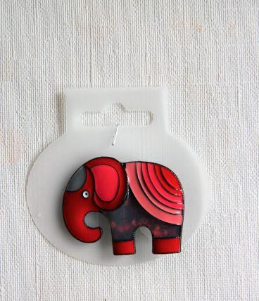 Adorable broche éléphant, façon émaux. Broche neuve.