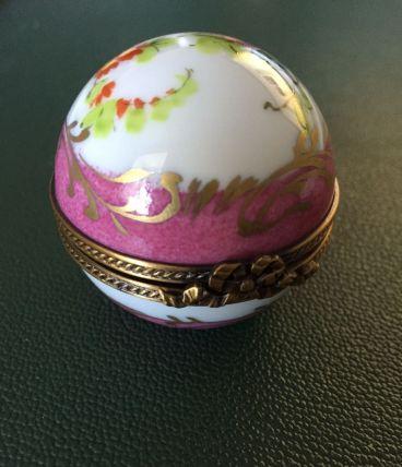 Boite ronde porcelaine
