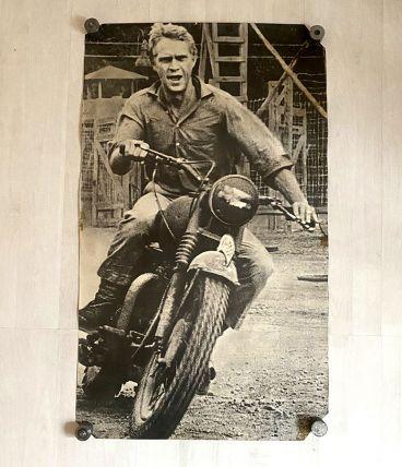 "Poster Steve Mc Queen ""la Grande évasion"" 100 x 59 cm"