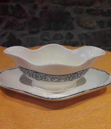 Saucière porcelaine  style anglais