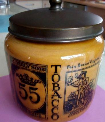 Pot a tabac vintage vernissé