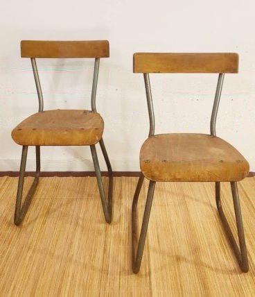 Paire de chaises René Herbst