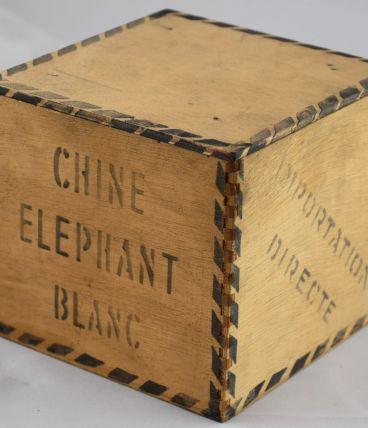 Boite à thé Elephant en bois