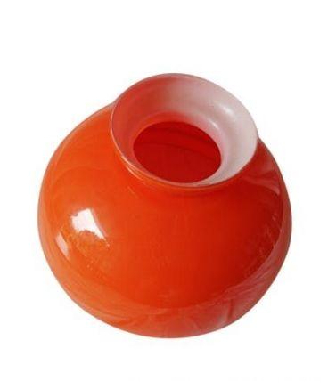 Globe opaline orange vintage 70's