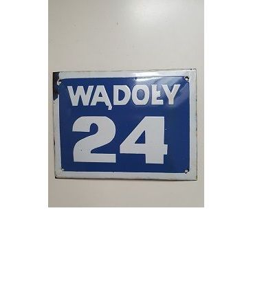 Plaque émaillée 24 avec nom ville Pologne