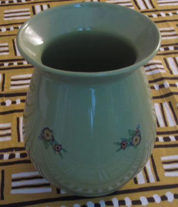 Vase vert – Faïence de Roanne, Coomans