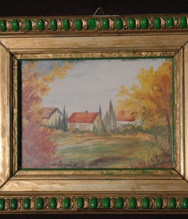 D LEGRIX PEINTRE tableau encadrée paysage gouache