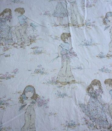 Drap Plat Sarah Kay Vintage Lit 1 Place