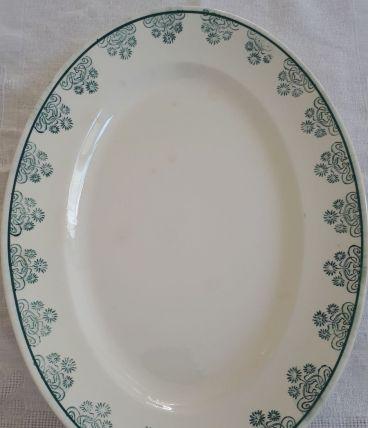 Plat oval Sarreguemines Digoin