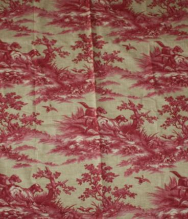 Coupon Tissu Vintage Chien 1994 Carleton V