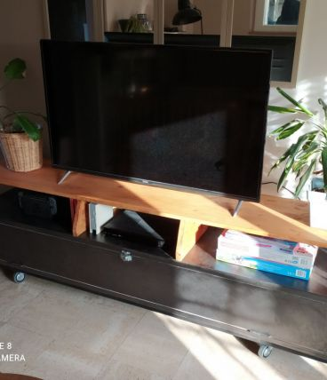 Meuble télé fabrication unique artisanale