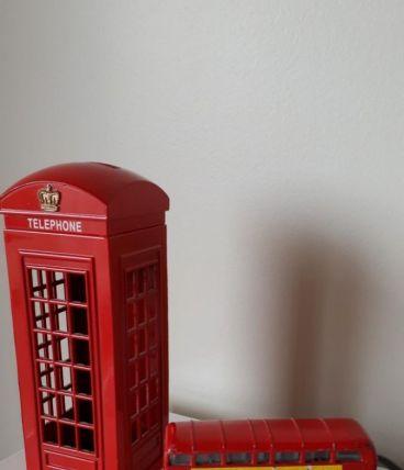 Tirelire cabine téléphonique Londres et bus impérial