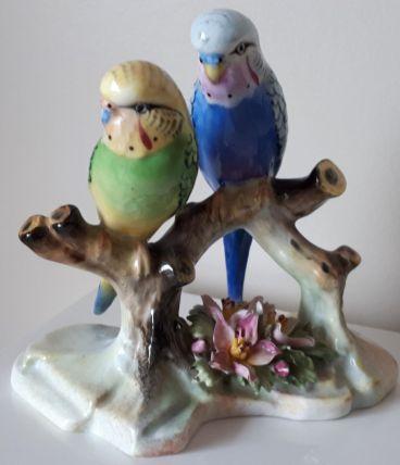 Couple d'oiseaux porcelaine