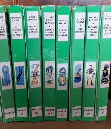 Lot de 11 livres Bibliothèque Verte