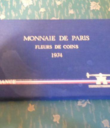 coffret monnaie de Paris 1974